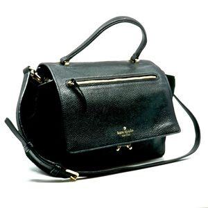 KATE SPADE~pebbled leather~SATCHEL SHOULDER BAG